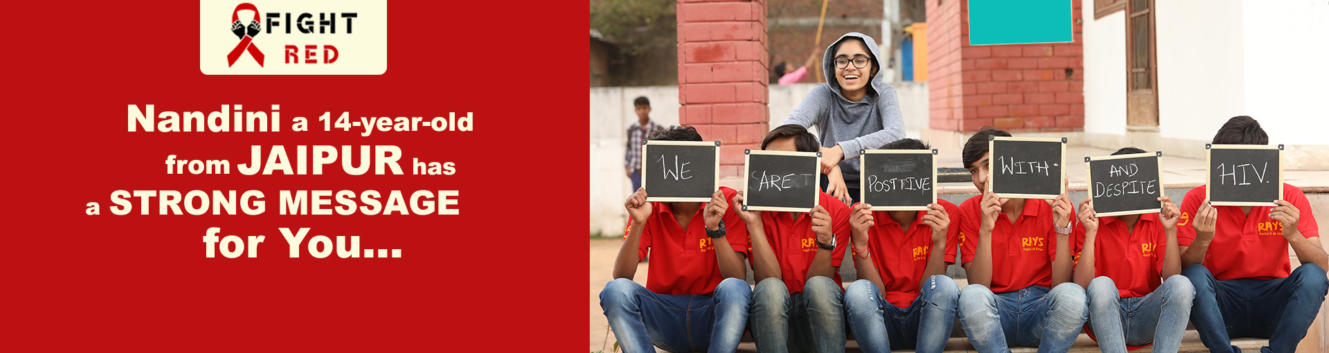 FightRed an initiative by Nandini Kuchhal an attempt to help children living with HIV/AIDS